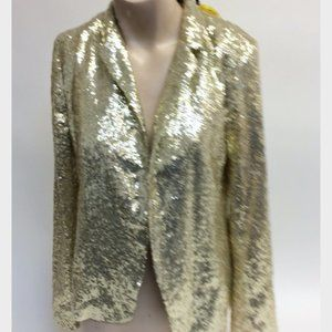 URBAN OUTFITTERS Gold Sequin Blazer Size XS